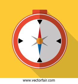 Travel compass graphic icon