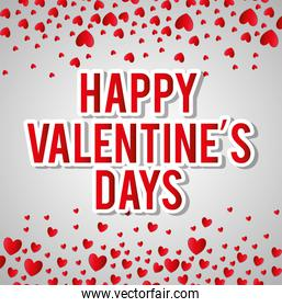 Happy valentines day colorful card