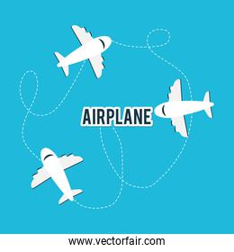 Airplane and travels