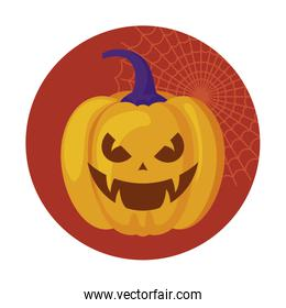 halloween pumpkin traditional icon design
