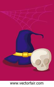 hat of witch halloween icon