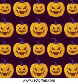 pattern of halloween pumpkins traditional