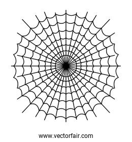 drawing of scary spider web on white background