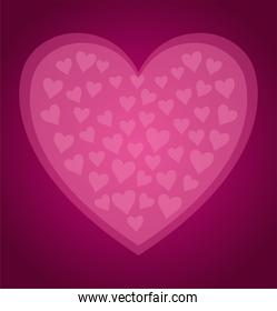 cute pattern of pink hearts