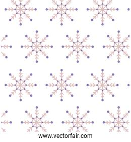 pattern of snowflakes on white background