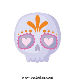 mexican skull in white background