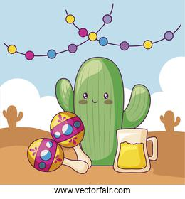 maraca with cactus and desert in the background