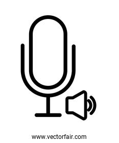 microphone icon design, vector illustration