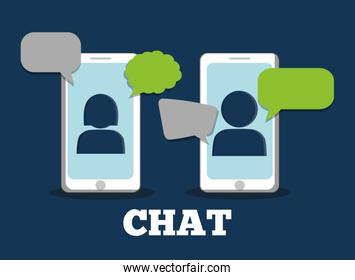 Graphic of chat design, vector illustration