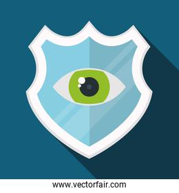 Colorful design of Security System, vector illustration