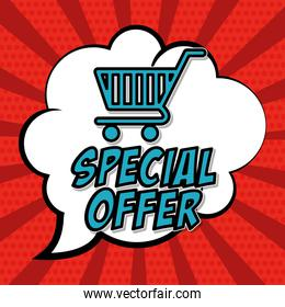 Colorful design of Special Offer , vector illustration