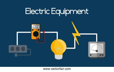 electric equipment and supplies, vector illustration