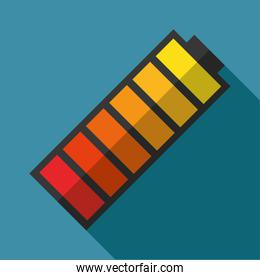 battery, colorful design