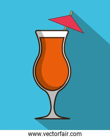 Drink design. Cocktail icon. Style glass illustration, vector