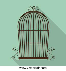 Birdcages icon. Decoration object. vintage concept, vector graph