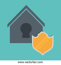 Smart home design. protection icon. Vector graphic