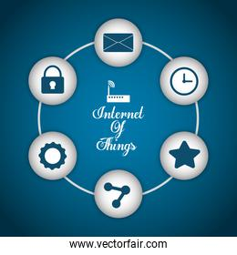 Multimedia icon set. Internet of things design. vector graphic