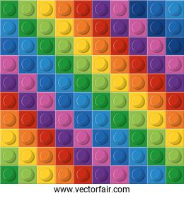 Lego icon. Abstract figure. Multicolored.  Vector graphic