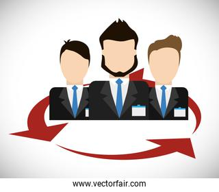 Businesspeople icon. Business design. Vector graphic