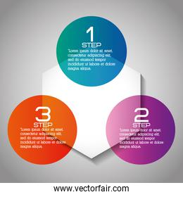 Infographic icon. Steps design. Vector graphic
