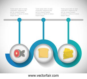 Infographic icon. Nutrition and Organic food. Vector graphic