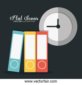 icon set. Office Instrument design. Vector graphic