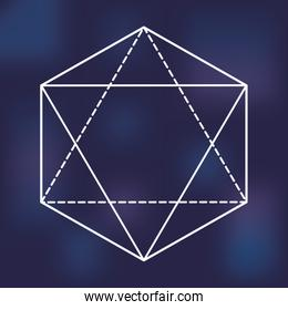 Sacred geometry icon. White Shape design. Vector graphic