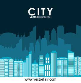 Building and tower icon. City design. Vector graphic