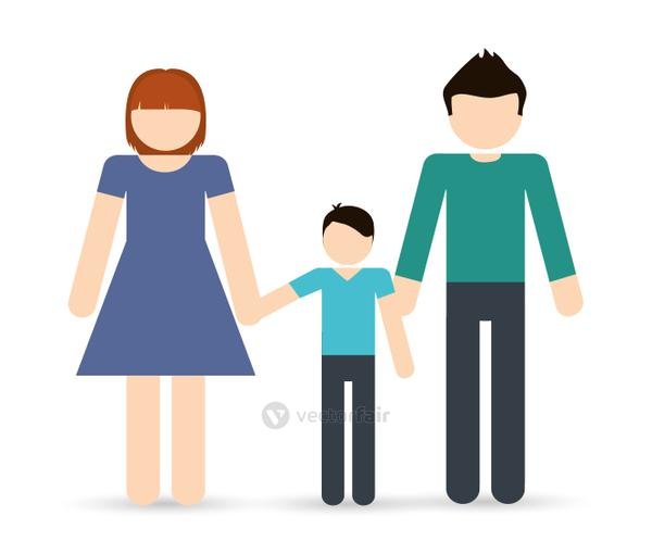 Parents and boy icon. Avatar Family design. Vector graphic