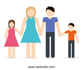 Parents and kids icon. Avatar Family design. Vector graphic