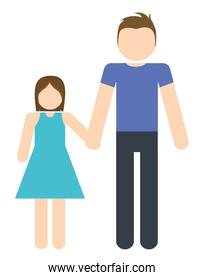 father and daughter icon. Avatar Family design. Vector graphic