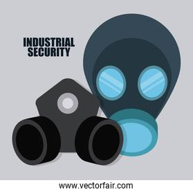 Gas mask icon. Vector graphic