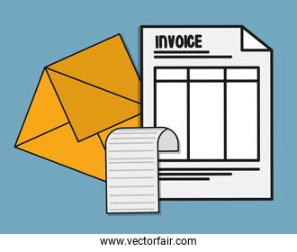document envelope  paper invoice payment icon. Vector graphic