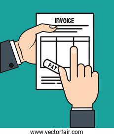 document paper invoice payment icon. Vector graphic