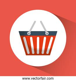 shopping basket online store market icon. Vector graphic