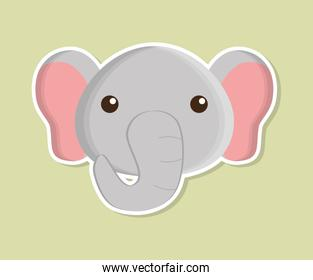 elephant animal cute little design.