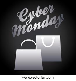 Shopping bag and cyber monday design