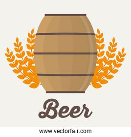 Beer barrel and wheat ear design