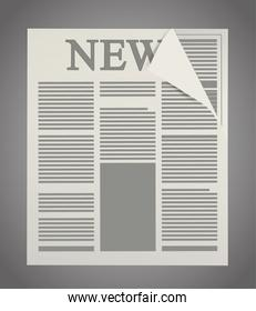 Isolated newspaper article design