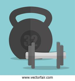 Weight of fitness concept