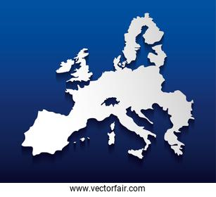 Isolated europe map design