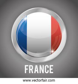 Isolated france button design