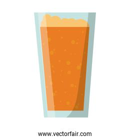 Isolated beer glass design