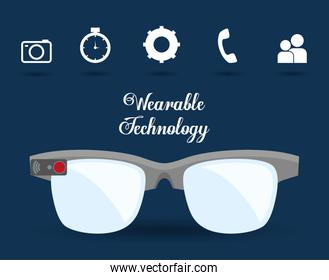 smart glasses wearable technology icon image