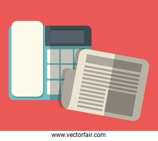 office workplace related icons image