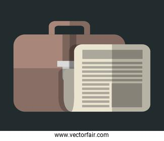 briefcase and document icon image