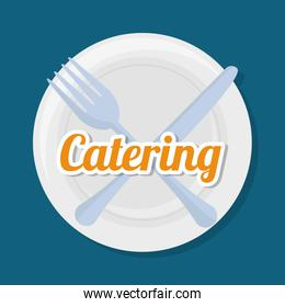 catering related icons emblem