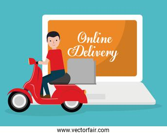 food delivery related icons image