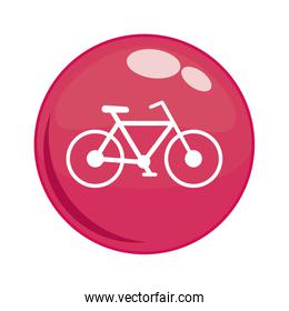 bicycle in button icon