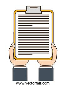 clipboard with document icon image